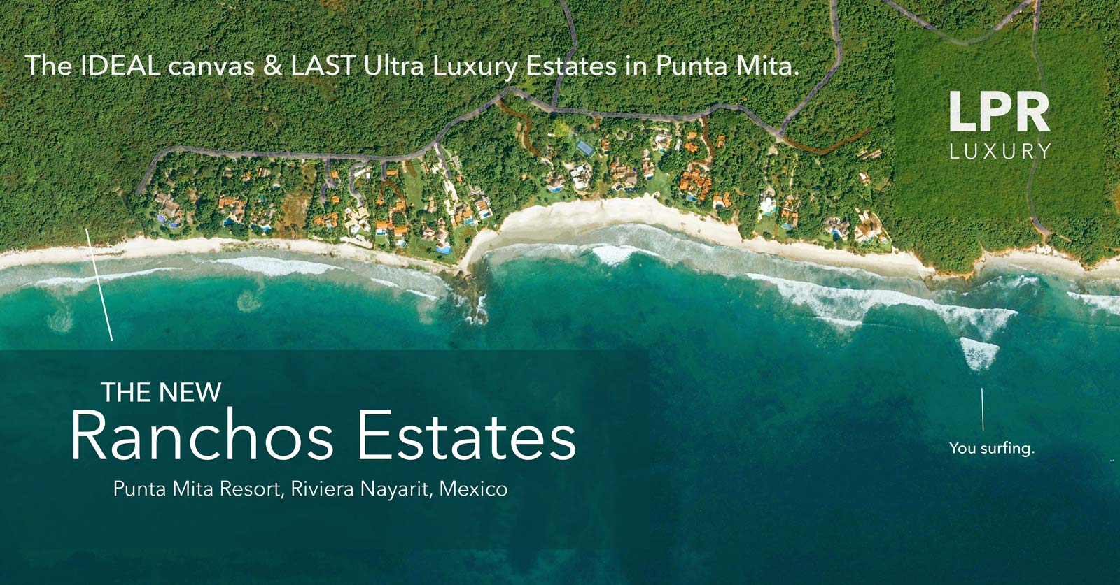 Bahia Estates - The New estate lots next to Ranchos Beach - Punta Mita Resort Real Estate and Vacation Rentals
