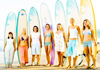 The Boston Globe Surfer girls in Sayuilita